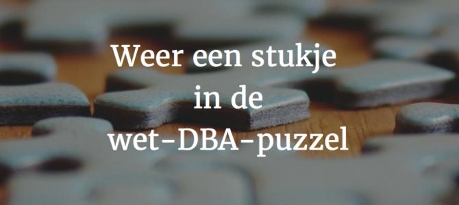 Weer een stukje in de wet-DBA-puzzel